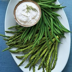 Herbed Dip with Baby Vegetables recipe
