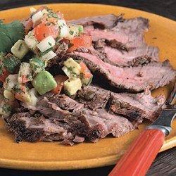 Flank Steak with Tomato-Avocado Salsa recipe