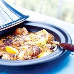 Chicken Tagine with Onions, Honey, and Mint recipe