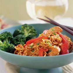 Chicken and Noodles with Peanut Sauce recipe