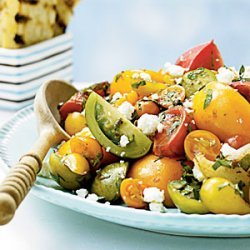 Heirloom Tomato Salad with Herbs and Capers recipe