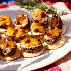 Herbed Pork Tenderloin With Parmesan-Pepper Toasts recipe