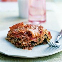 Pesto Lasagna with Spinach and Mushrooms recipe