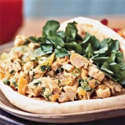 Curried Chicken Salad in Naan recipe