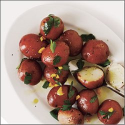 New Potatoes with Parsley and Saffron recipe