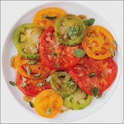 Heirloom Tomato Salad with Pomegranate Drizzle recipe