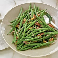 Haricots Verts with Warm Bacon Vinaigrette recipe