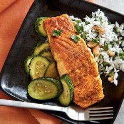 Indian-Spiced Salmon with Basmati Rice recipe