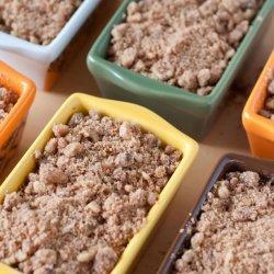 Pumpkin-Oat Bread With Walnut Streusel Topping recipe