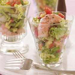 Sweet and Spicy Shrimp and Avocado Salad with Mango Vinaigrette recipe
