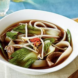 Vietnamese Beef-Noodle Soup with Asian Greens recipe