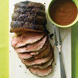 Roast Bison with Velvety Pan Gravy recipe