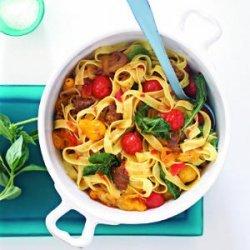 Hot Italian Sausage and Tomato Pasta recipe