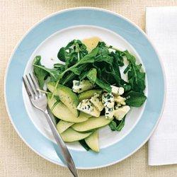 Arugula and Pear Salad with Maple Vinaigrette recipe
