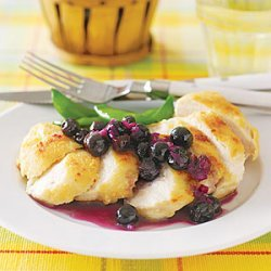 Sauteed Chicken with Fresh Blueberry Sauce recipe