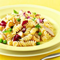 Pasta with Peas and Pork recipe