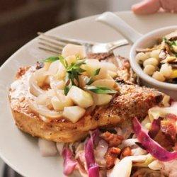 Pork Loin Chops With Pear-and-Vidalia Pan Gravy recipe