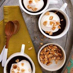 Vanilla Pots de Crème with Dark Chocolate and Roasted Almonds recipe