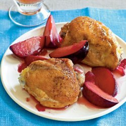 Braised Chicken Thighs with Plums recipe