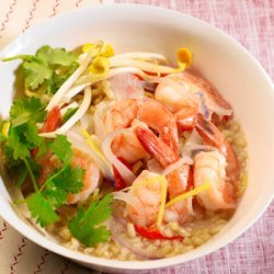 Clay Pot Shrimp with Brown Rice recipe