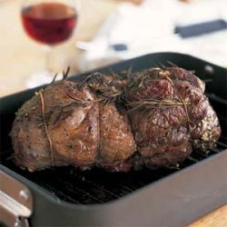 Mediterranean Roasted Leg of Lamb with Red Wine Sauce recipe