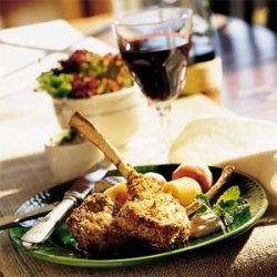 Parmesan-Herb Lamb Chops with Mint Aioli recipe