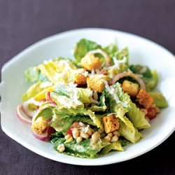 Creamy Caesar Salad with White Beans recipe