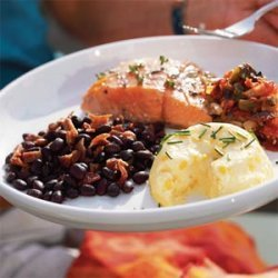 Grilled Salmon with Charred Tomato Salsa recipe