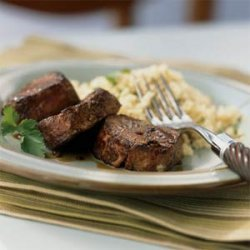 Spiced Pork with Bourbon Reduction Sauce recipe