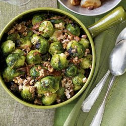 Brussels Sprouts With Prosciutto and Walnuts recipe