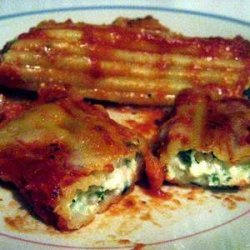 Baked 3-Cheese Manicotti recipe