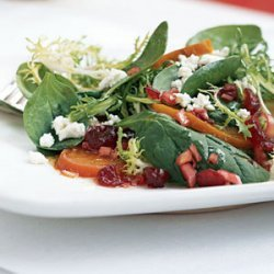 Frisee, Baby Spinach, and Golden Beet Salad recipe