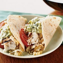 Fish Tacos with Creamy Lime Guacamole and Cabbage Slaw recipe