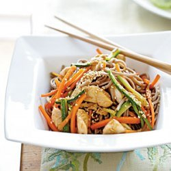 Soba Noodles with Chicken and Vegetables recipe