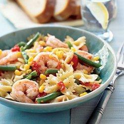 Pasta with Shrimp and Veggies recipe