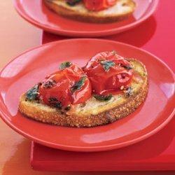 Cherry Tomato Toasts recipe