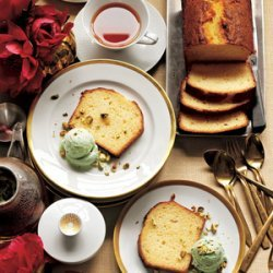 Lemon Buttermilk Cake With Pistachio Ice Cream recipe