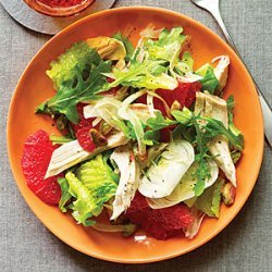 Green Salad with Chicken and Pink Grapefruit recipe