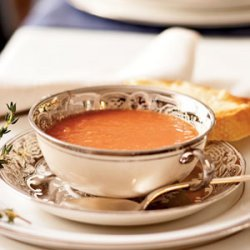 Tomato Soup with Parmesan Toast recipe