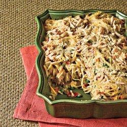 Chicken Tetrazzini With Prosciutto and Peas recipe