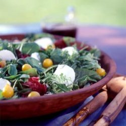 Greens with Maple-Balsamic Dressing recipe