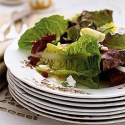 Mixed Green Salad with Orange, Cranberry, Chèvre, and Maple-Sherry Vinaigrette recipe