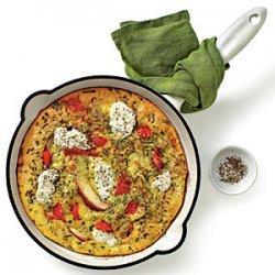 Red Pepper, Potato, and Ricotta Frittata recipe