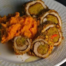 Mambo Pork Rolls with Sweet Potatoes recipe