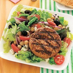 Lamb Burgers with Greek Salad recipe