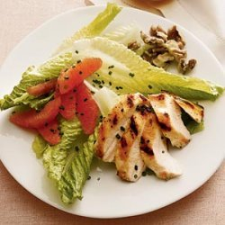 Winter Salad With Grilled Chicken, Citrus, and Walnuts recipe