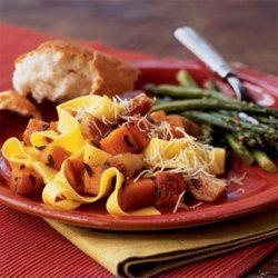 Pasta with Roasted Butternut Squash and Shallots recipe