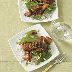 Hoisin Beef Stew with Snow Peas recipe