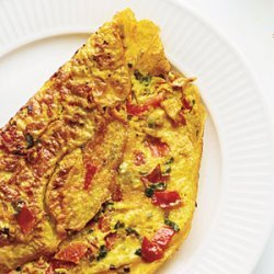 Omelet with Turmeric, Tomato, and Onions recipe
