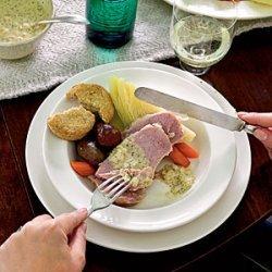 Irish Bacon and Cabbage with Mustard Sauce recipe